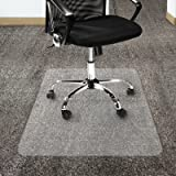 """Office Marshal Polycarbonate Chair Mat for High Pile Carpet Floors, 36"""" x 48"""" - Multiple Sizes - Clear, Studded, Carpet Floor Protection Mat"""