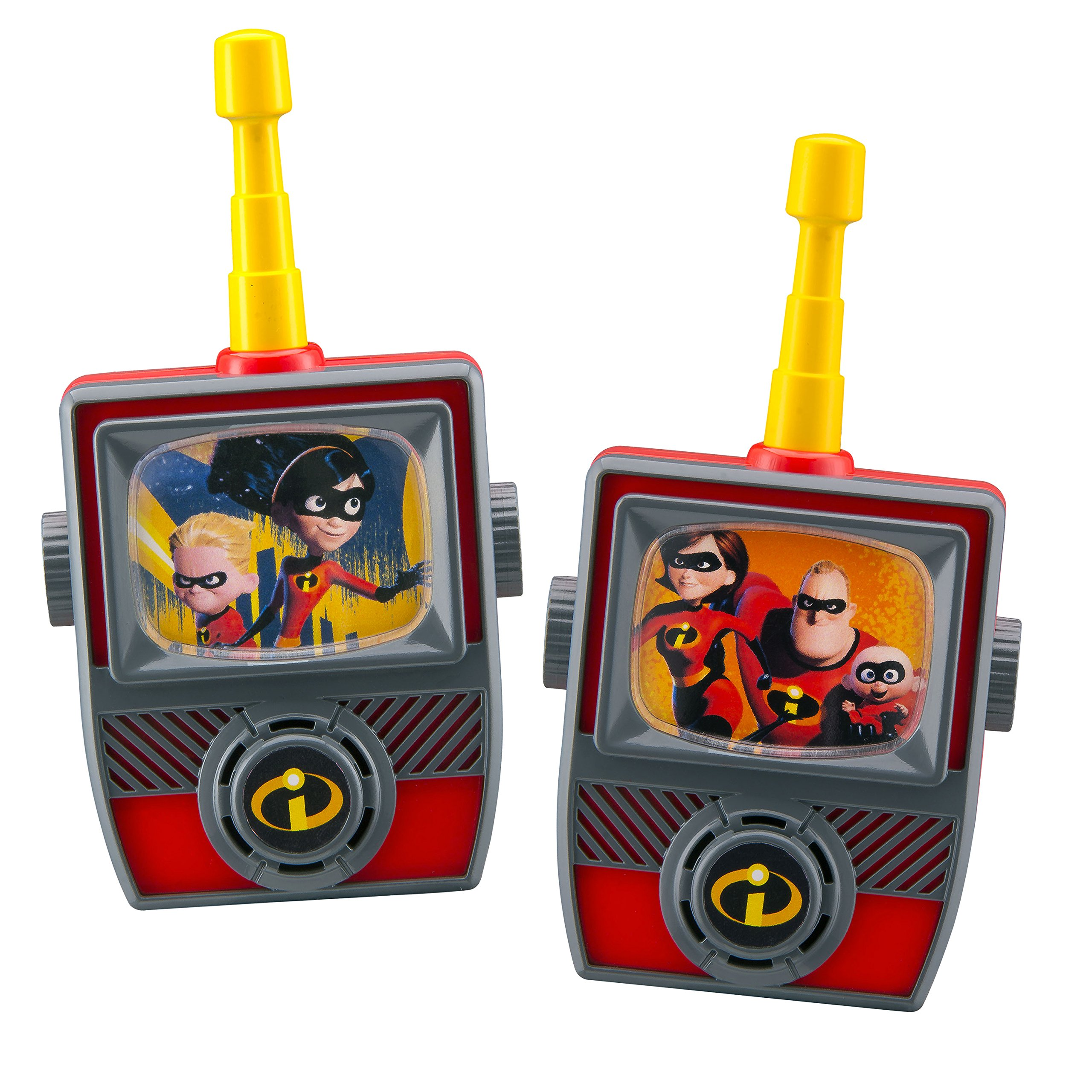 Incredibles 2 Walkie Talkies for Kids Static Free Extended Range Kid Friendly Easy to Use 2 Way Walkie Talkies