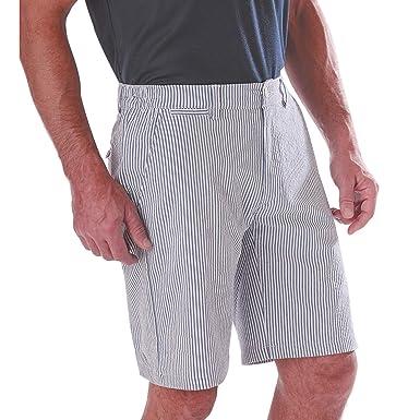 Sédao Bermuda Homme Seersucker Extensible Taille élastique Rayures  Amazon. fr  Vêtements et accessoires 24c0d67e6d1