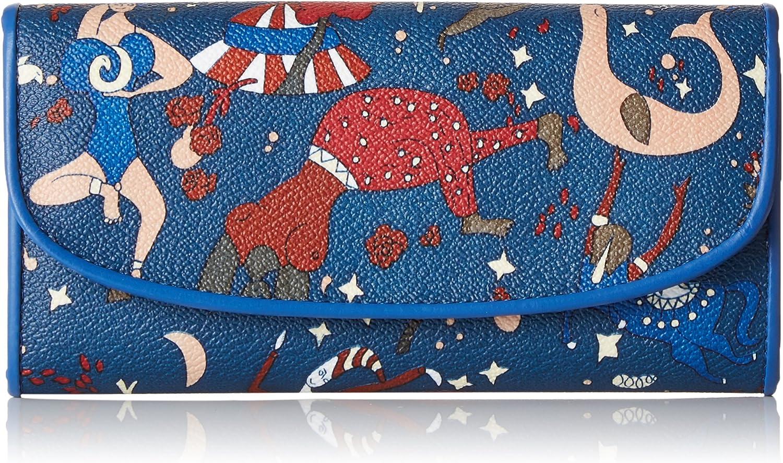 Piero Guidi Mujer 200954088 Monedero Azul Size: 19x10x2 cm (W x H x L)