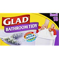 Glad Bathroom Tidy Drawstring Bags, 15 count