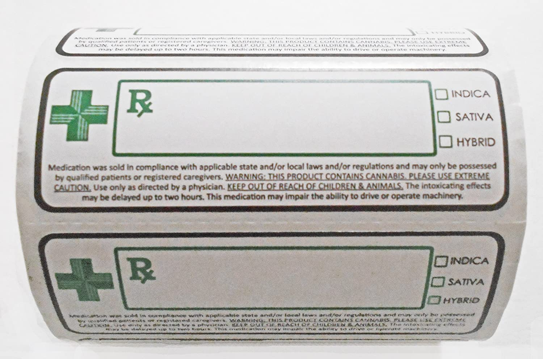 Medical Cannabis Dispensary Strain Labels 3