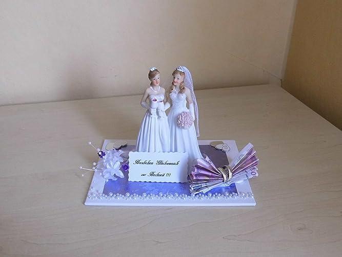 Geldgeschenk Hochzeit Brautpaar Frauen Lesben Amazon De Handmade