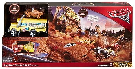 Amazon Com Disney Pixar Cars 3 Crazy 8 Crashers Smash Crash Derby