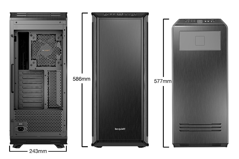 be quiet Torre E-ATX Dark Base Pro 900 REV2 Black Cargador QI//3 Ventiladores//Cristal Templado BGW15