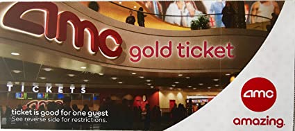 Amazon 10 AMC Theater Gold Tickets Ticket Rolls Office Products