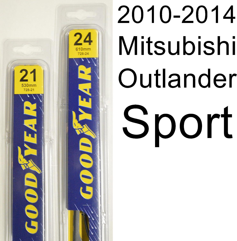 2010-2014 Mitsubishi Outlander Sport Goodyear Hybrid Style Wiper Blade Set of 2
