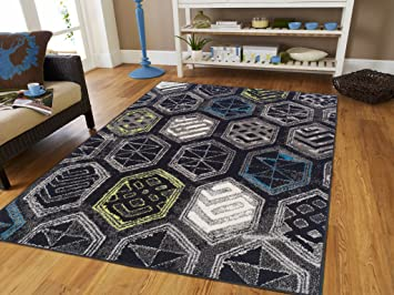 Amazon Com Luxury Distressed Modern Rugs For Living Room Large 8x11