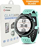 Exuun 0.3mm 2.5D Tempered Glass Screen Protector for Garmin Forerunner 235 225 630 620 220 230