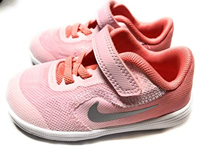 on sale 5a98e cdbea Nike Kids  Revolution 3 (TDV) Running Shoe, Arctic Pink Metallic Silver