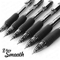 Zebra Z-Grip Smooth - Retractable Ballpoint Pen - Pack of 6 - Black