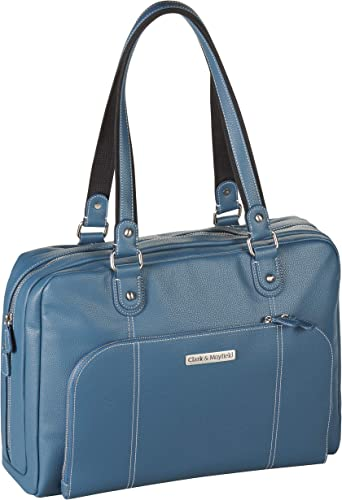Clark Mayfield Morrison 17 Laptop Tote Deep Teal