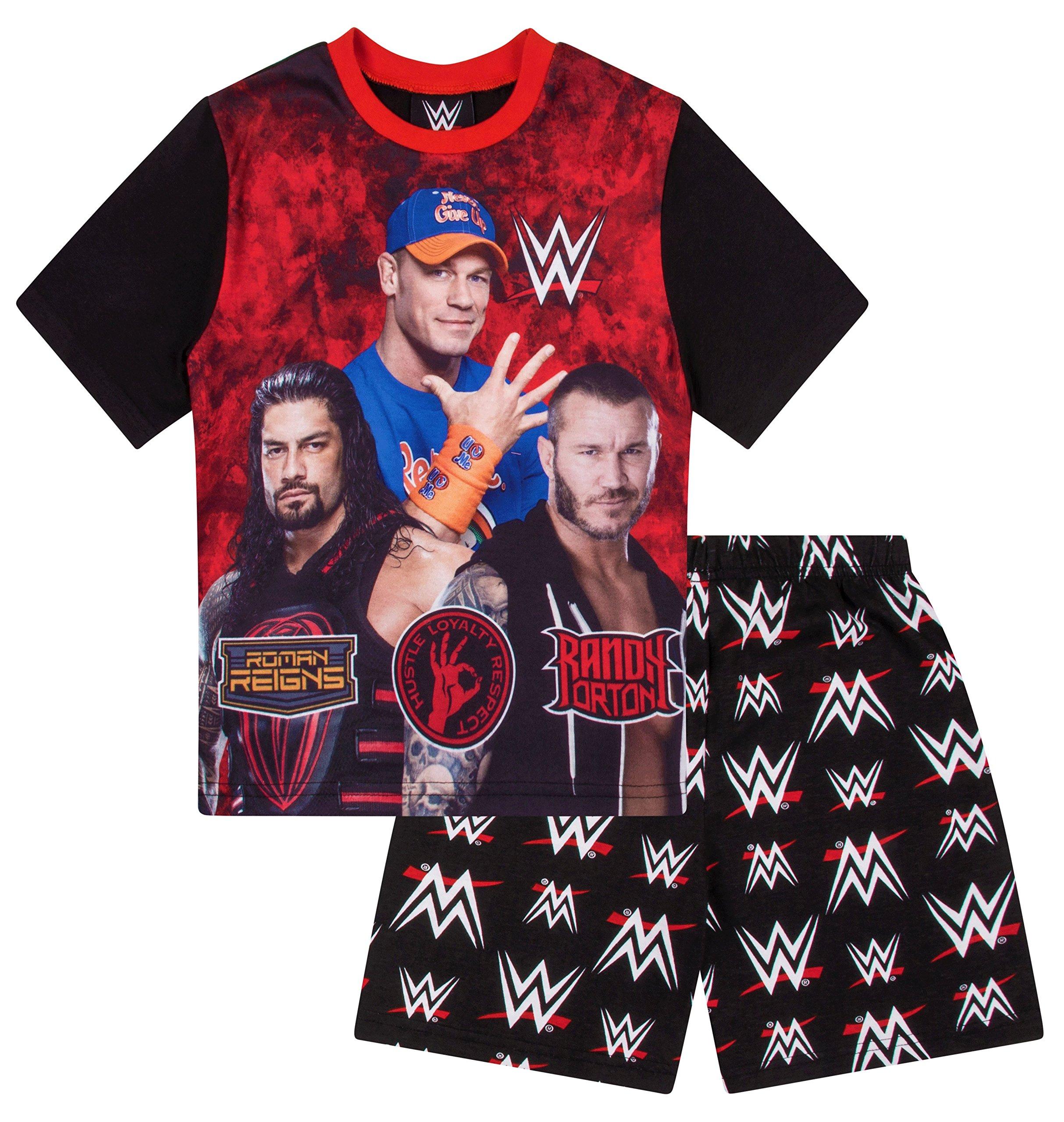 Boys WWE World Wrestling Short Pajama 6 7 8 9 10 11 12 Years Pj Pajamas (6X-7)
