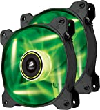 Corsair CO-9050032-WW Air Series SP120 LED 120mm Low Noise High Pressure LED Fan Dual Pack, Green
