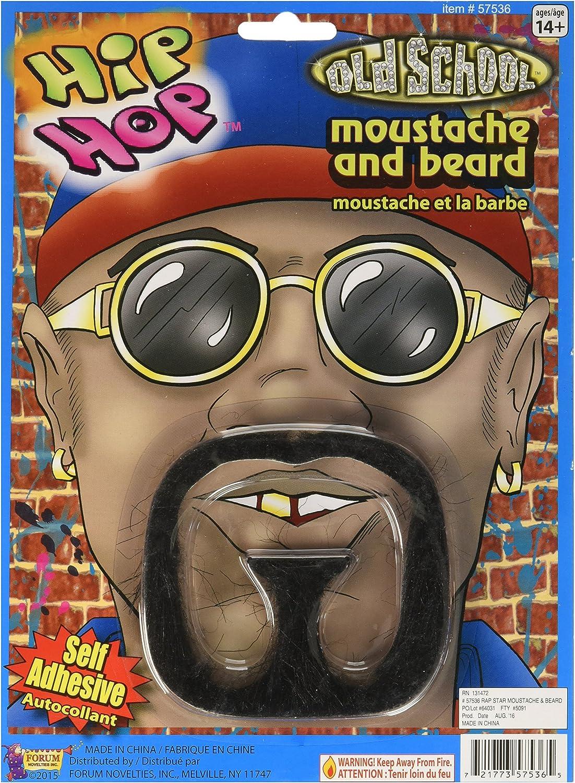 Rap Star Costume Beard and Moustache