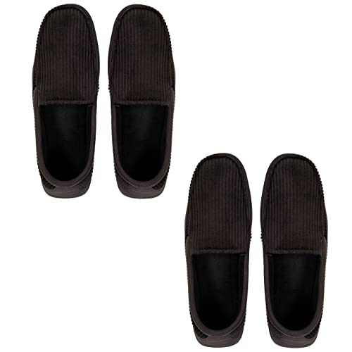 42b0b0c2734e Dearfoams Corduroy Moccasin Cozy Slipper 2 Pair Pack - Small (7-8)