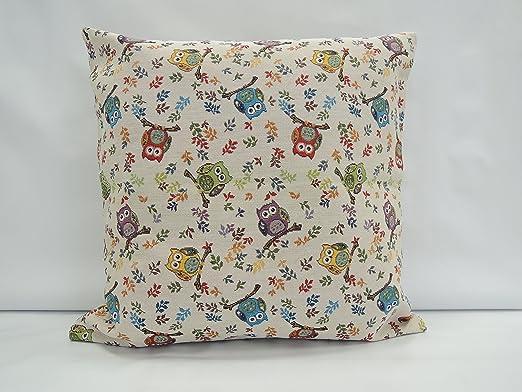 Almohada Búhos pequeño - beiger Fondo/sofá almohada ...