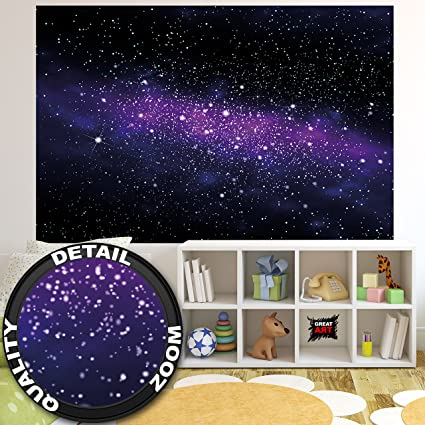 Wallpaper Stars Wall Picture Decoration Childrens Room Outer Space Sky Galaxy Universe Cosmos Starry