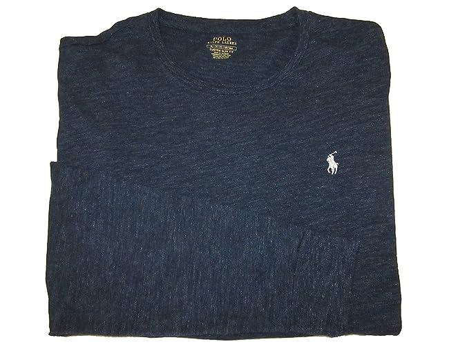 301ea465c1f8 RALPH LAUREN Polo Mens Custom Slim Fit Crewneck Long Sleeve T-Shirt (X-