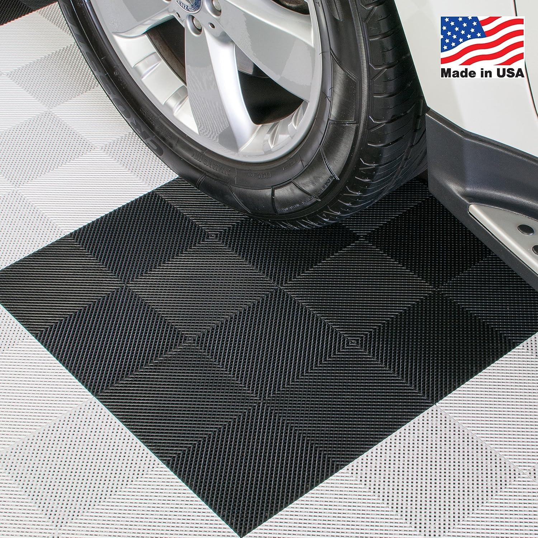 Interlocking perforated drain floor tile 30 sqft black interlocking perforated drain floor tile 30 sqft black ceramic tiles amazon dailygadgetfo Gallery