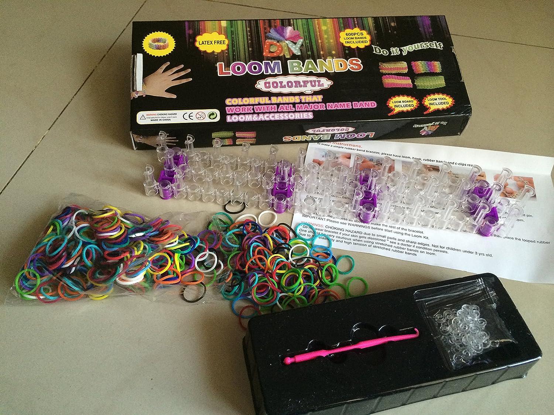 Amazon: Littletiger Diy Rubber Band Bracelets Loom Kit: Toys & Games
