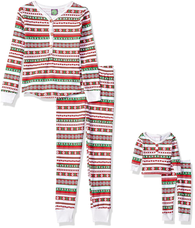 Dollie /& Me Girls Christmas Snugfit Sleepwear Set