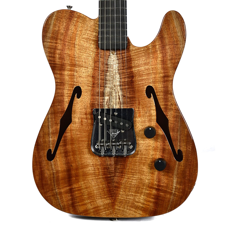 Fender CS fundadores Diseño John página Esquire doble f-hole 5 un KOA: Amazon.es: Instrumentos musicales