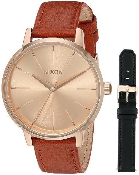 Nixon A1190 – 2780 Kensington funda de piel Pack de la mujer reloj negro (1