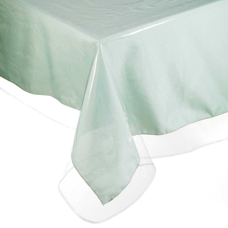 Amazon YOURTABLECLOTH Clear Vinyl Tablecloth Heavy Duty 6 Mil
