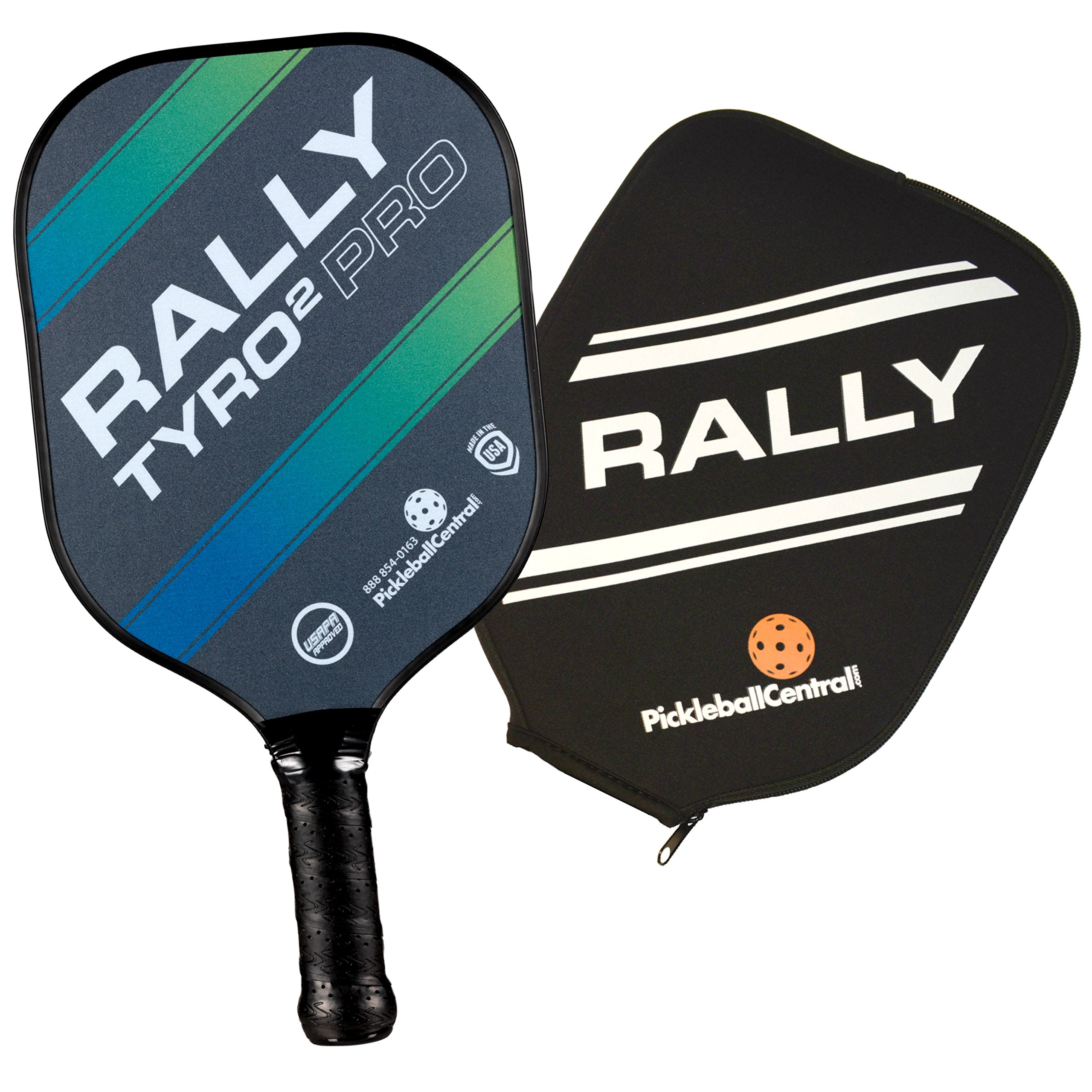 Rally Tyro 2 Pro Pickleball Paddle (1 Paddle/Cover - Ocean Blue) by PickleballCentral (Image #1)