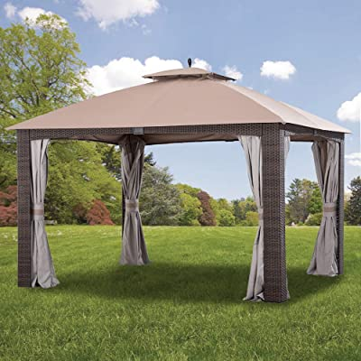 Garden Winds Replacement Canopy for The Augusta Gazebo - Standard 350 - Beige : Garden & Outdoor
