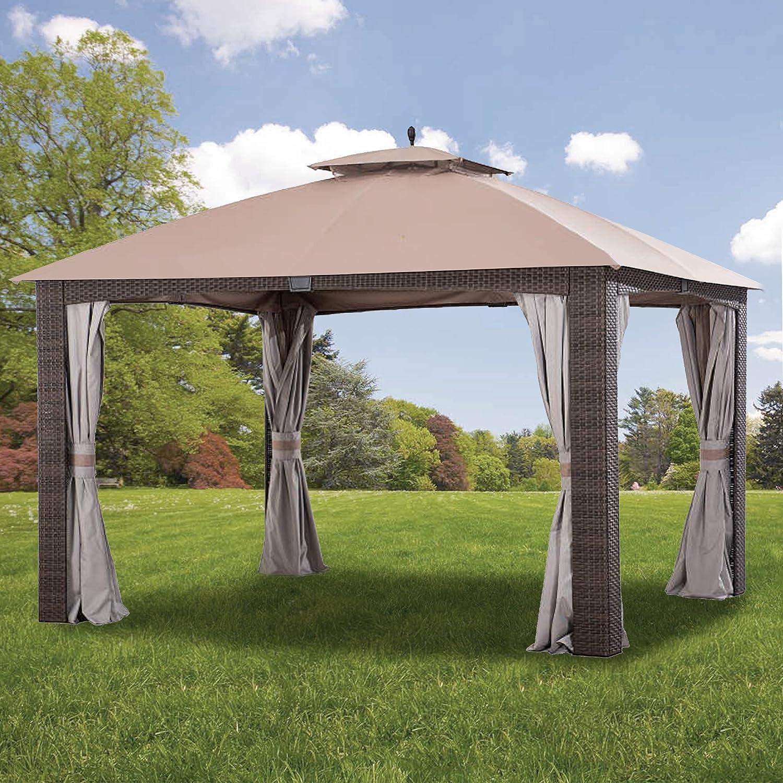 Garden Winds Replacement Canopy for The Augusta Gazebo - Standard 350 - Beige