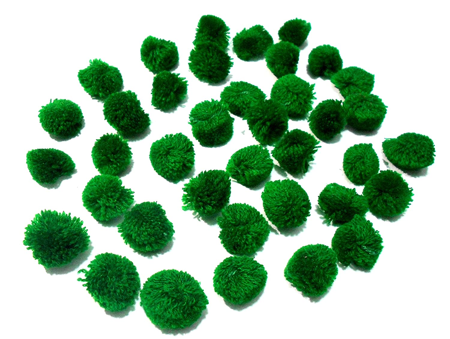 Decorations Goelx Pom Pom Balls for Crafts Accessories Pack Of 50 Black Jewellery Making Bags