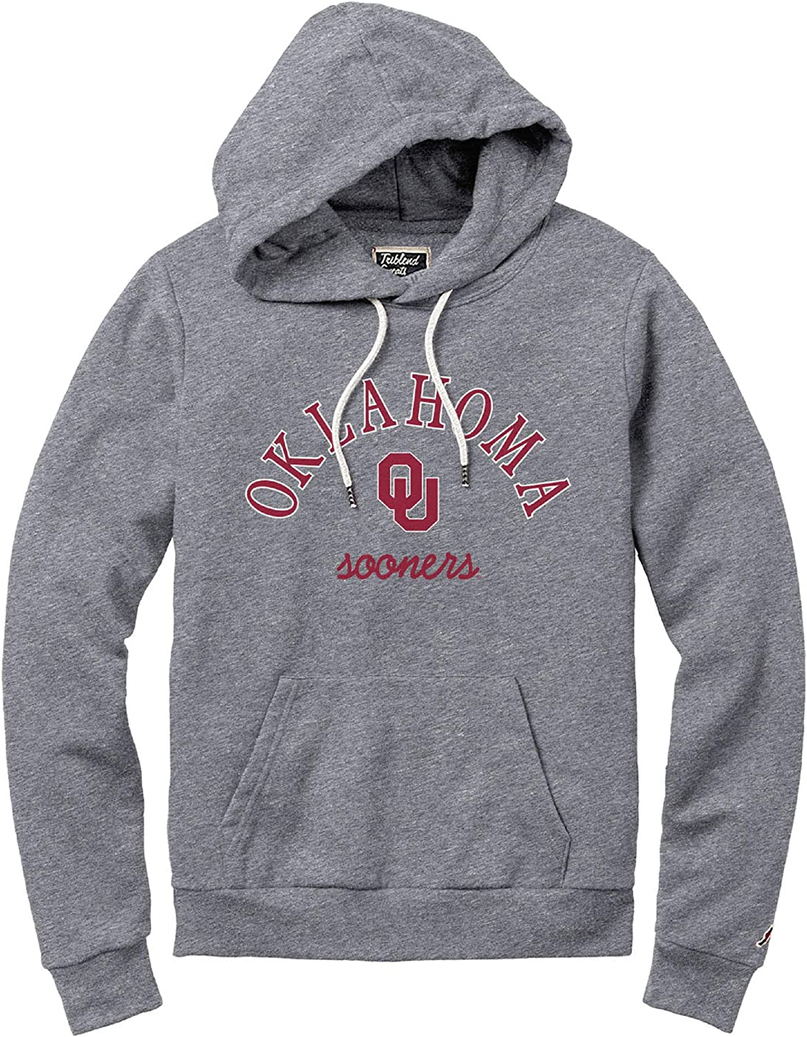Fall Heather NCAA League Womens Oklahoma Sooners Victory Springs Hooded Pullover X-Large
