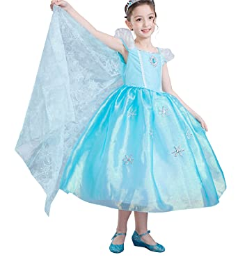 Dressy Daisy Girls Princess Elsa Costumes Frozen Dress with Train Halloween Party Costume Size 3T/  sc 1 st  Amazon.com & Amazon.com: Dressy Daisy Girls Princess Elsa Costumes Frozen Dress ...