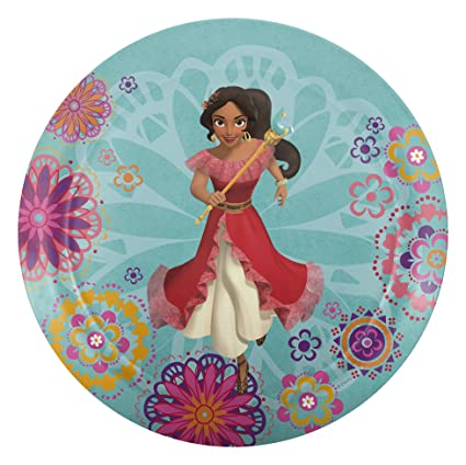 Zak Designs Disney Princess 8-inch Plastic Plate for Kids Princess Elena of Avalor  sc 1 st  Amazon.com & Amazon.com | Zak Designs Disney Princess 8-inch Plastic Plate for ...