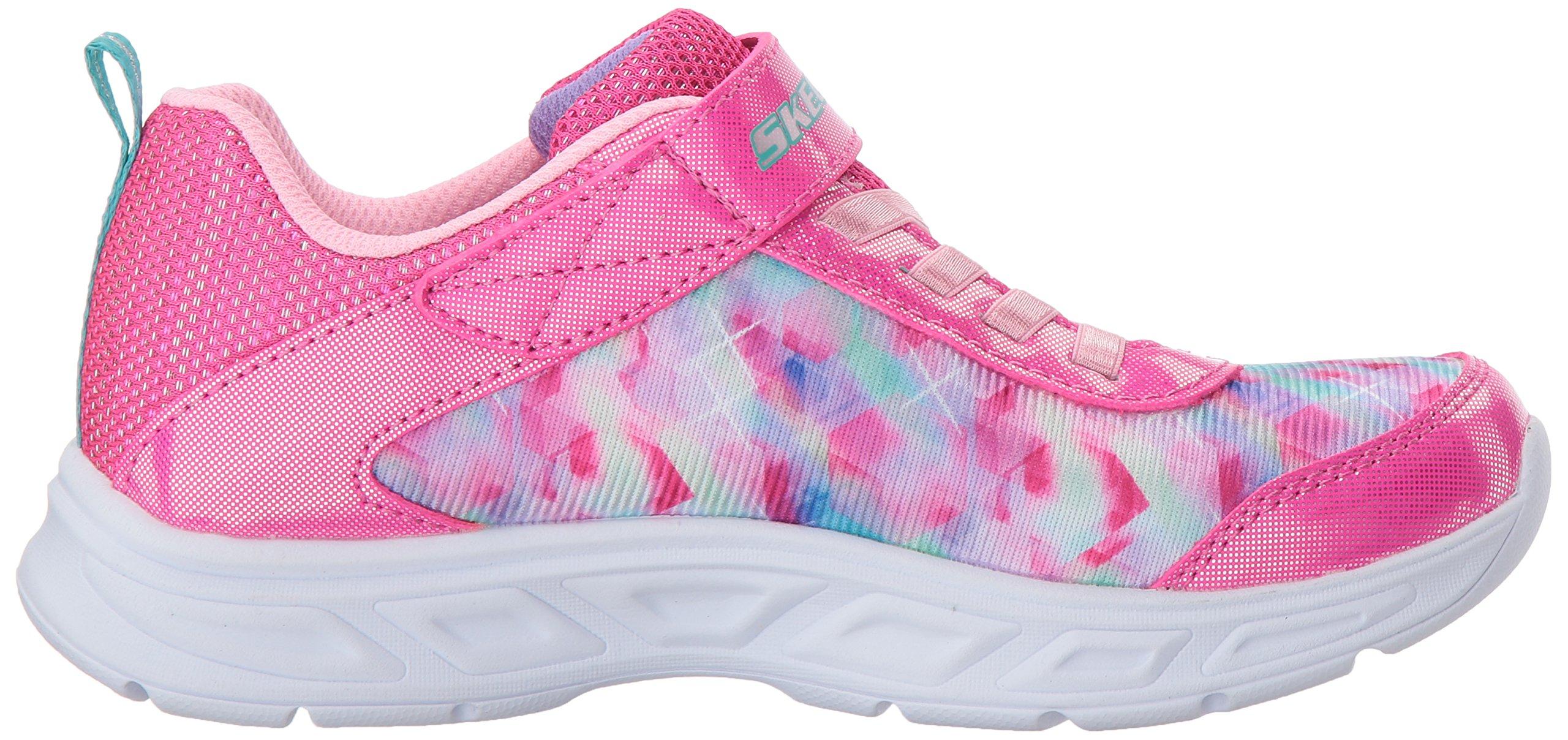 Skechers Kids Girls' Litebeams-Dance N'Glow Sneaker,neon Pink/Multi,1 Medium US Little Kid by Skechers (Image #7)