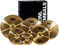 "Meinl Cymbals Super Set Box Pack with 14"" Hihats, 20"" Ride, 16"" Crash, 18"" Crash, 16"" China, and a 10"" Splash – HCS Traditional Finish Brass"