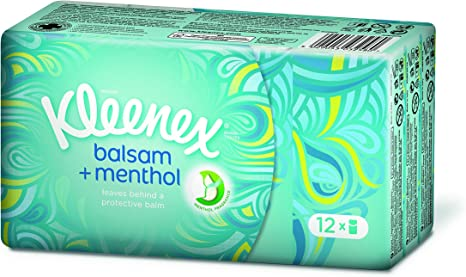 3-lagig 72 St. mit Menthol Kleenex Balsam Fresh Taschentücher-Box