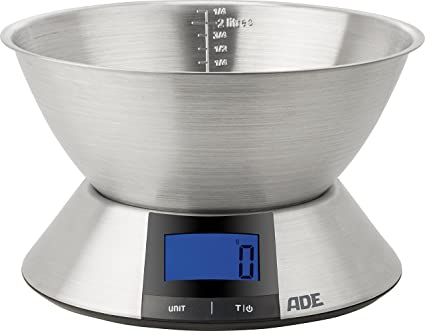ADE Báscula Digital de cocina. KE1702 Hanna. Pesa hasta 5Kg y líquidos. Electrónica