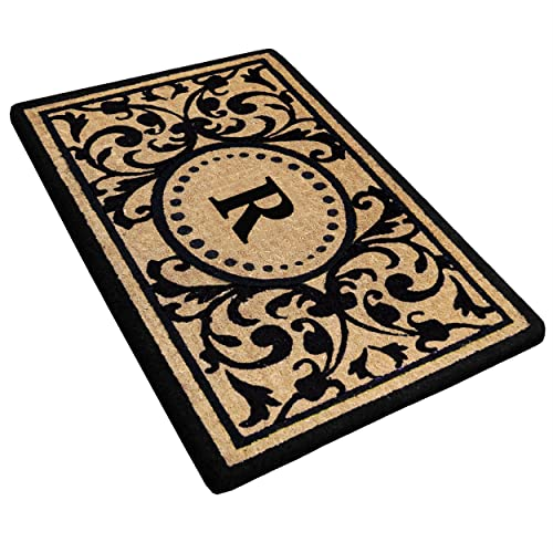 Heavy Duty 18 x 30 Coco Mat Heritage, Monogrammed R