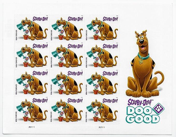 USPS Scooby-Doo! Scott 5299 - Juego de 12 sellos de primera clase, 1 Sheet of 16: Amazon.es: Juguetes y juegos