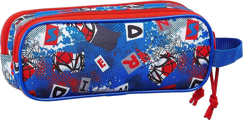Safta 812043513 Estuche portatodo Doble 2 Cremalleras Escolar Spiderman: Amazon.es: Equipaje