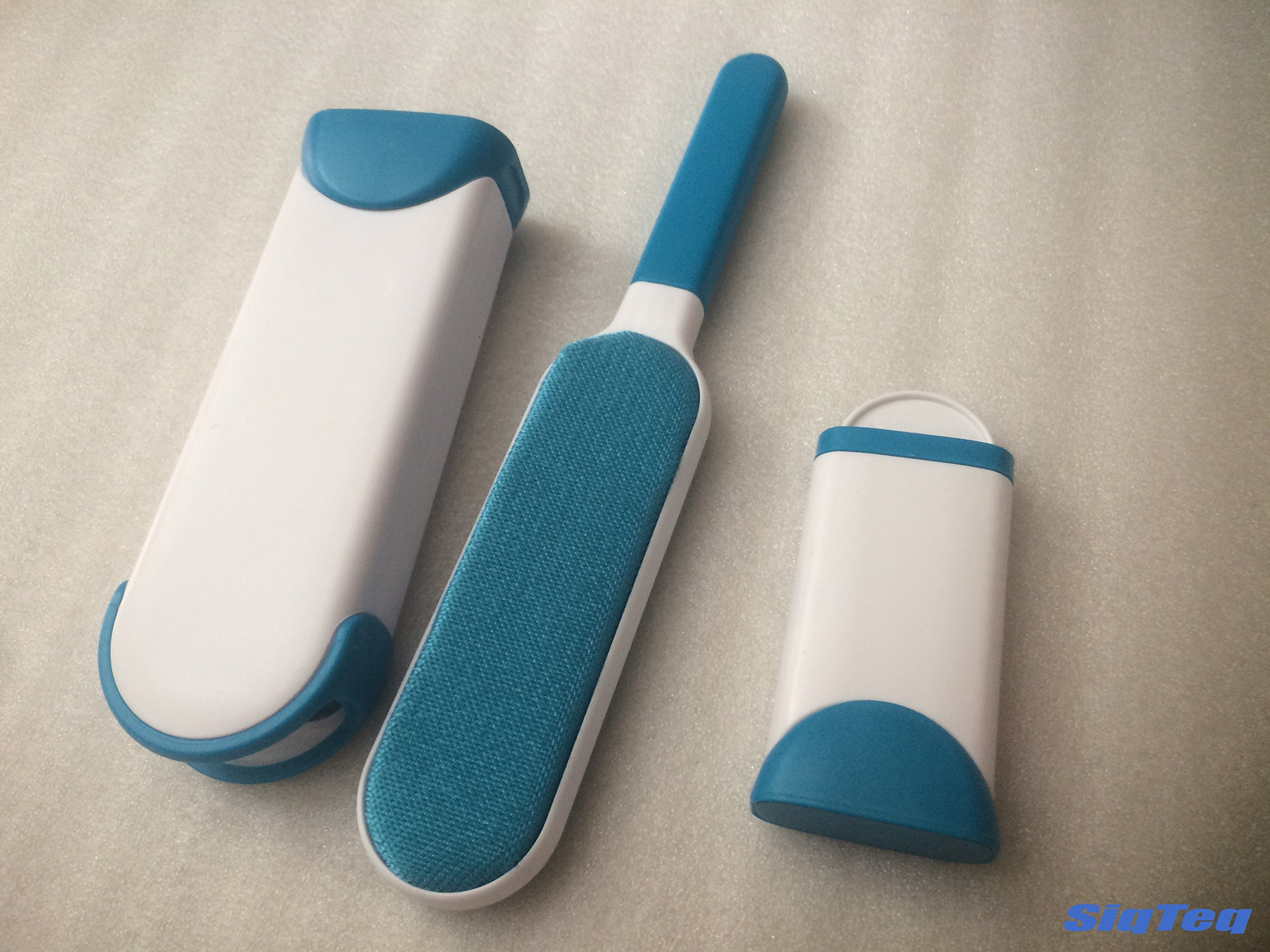 Pet Fur & Lint Remover with Self-Cleaning Base - Comes with free travel sized brush!
