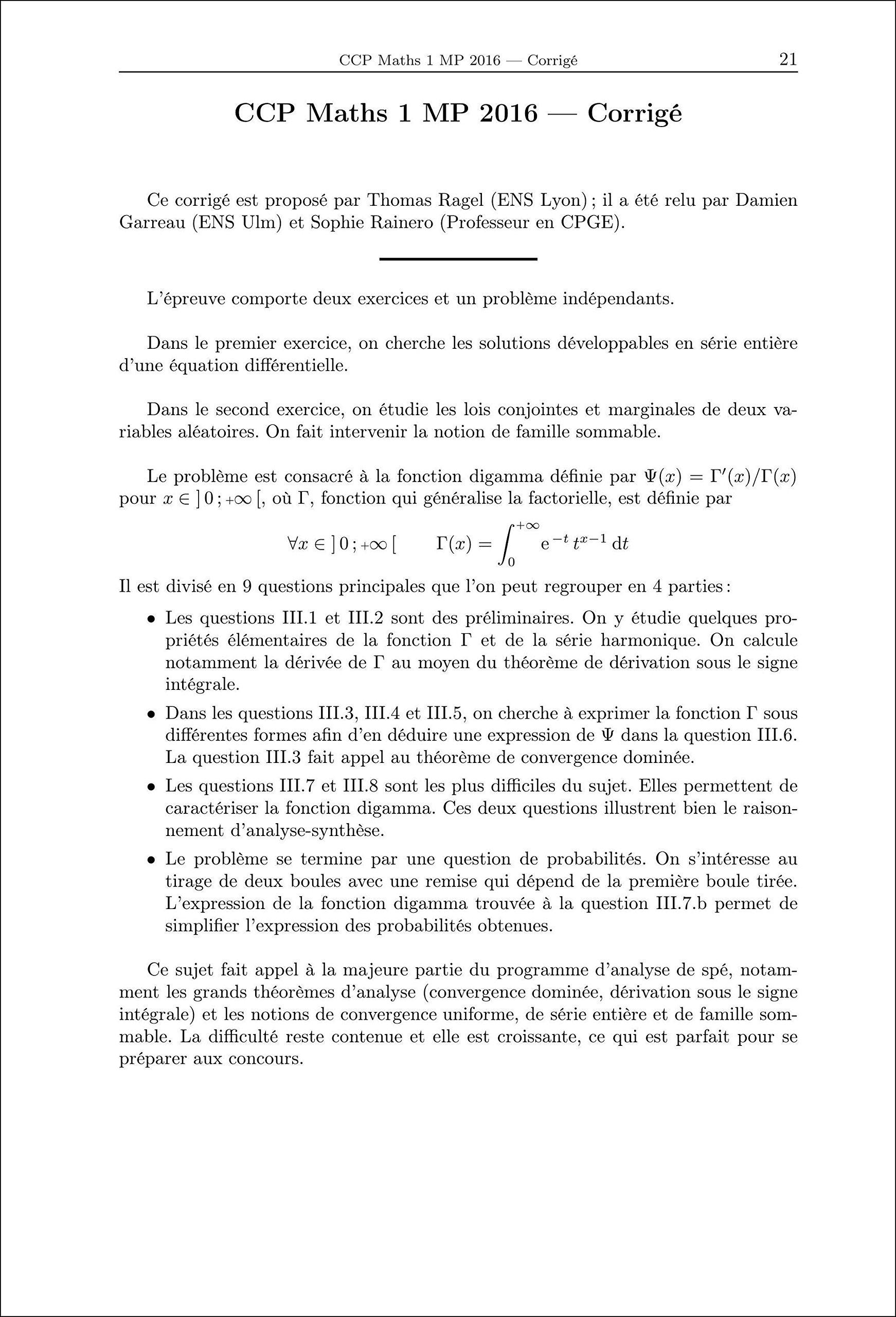Annales des concours MP : Mathématiques et informatique: 9782351413319: Amazon.com: Books