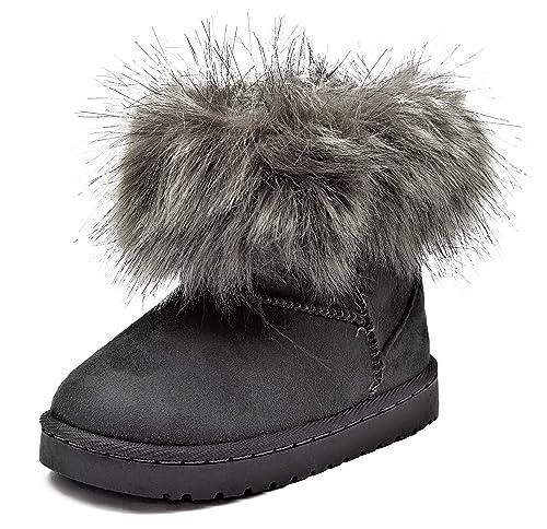 zum halben Preis großer Verkauf größte Auswahl von 2019 Fashionteam24 Gefütterte Mädchen Stiefel Winter Schuhe Boots mit Fell in  Vielen Farben