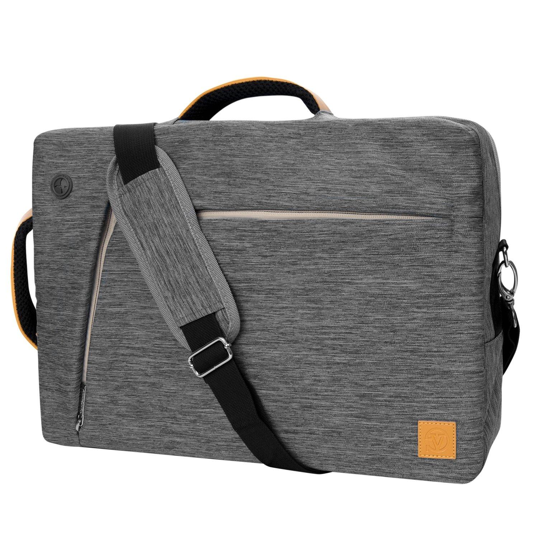 VG Laptop Bag Messenger Bag Shoulder Bag Carrying Case Sleeve Pouch 17.3inch for HP Envy 17 / Omen 17t / ProBook / Pavilion 17 / Zbook 17.3 / Lenovo IdeaPad / ThinkPad / G70 / Z70 (Gray)