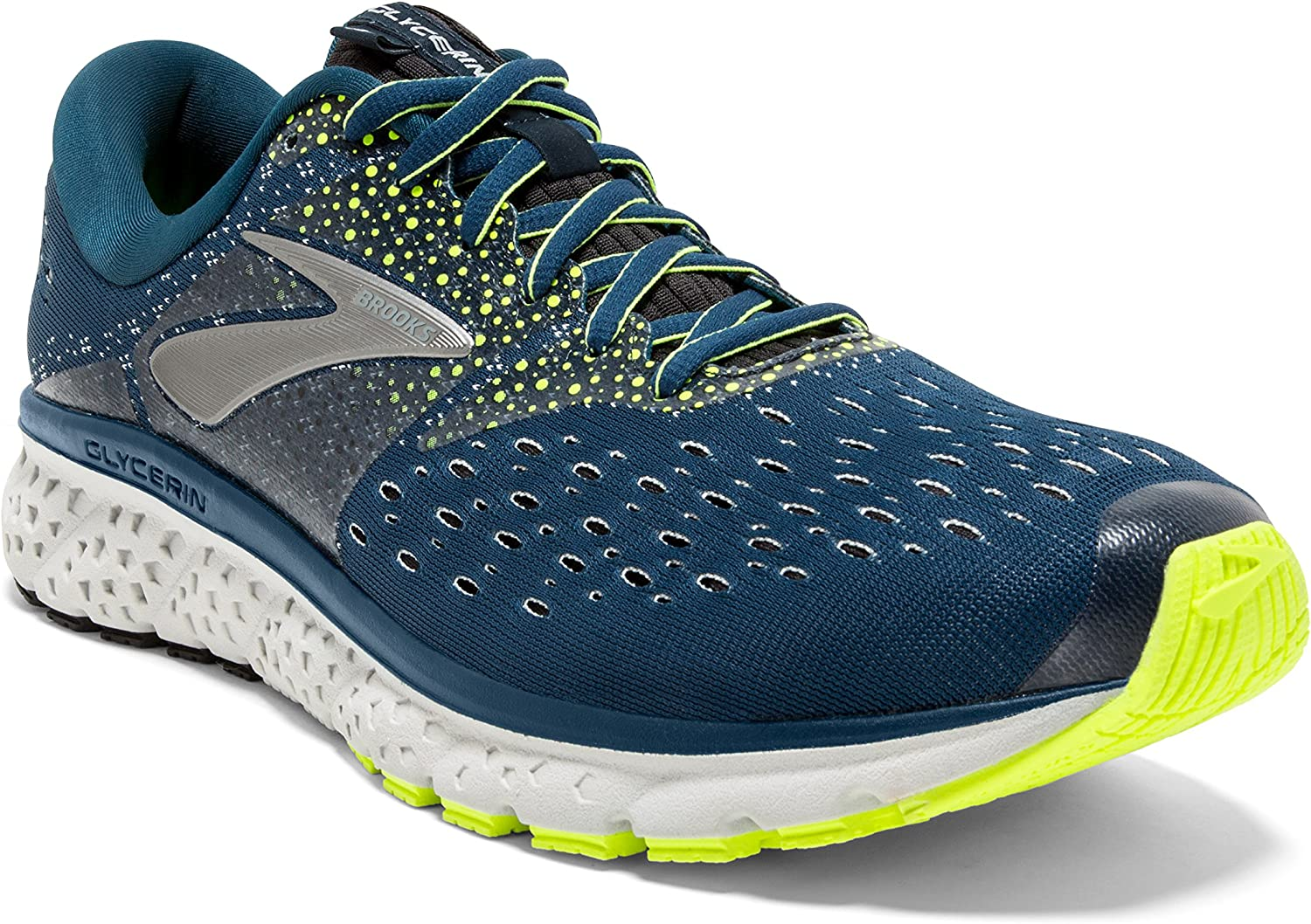 Brooks Mens Glycerin 16 – Blue Nightlife Black – D – 8.0