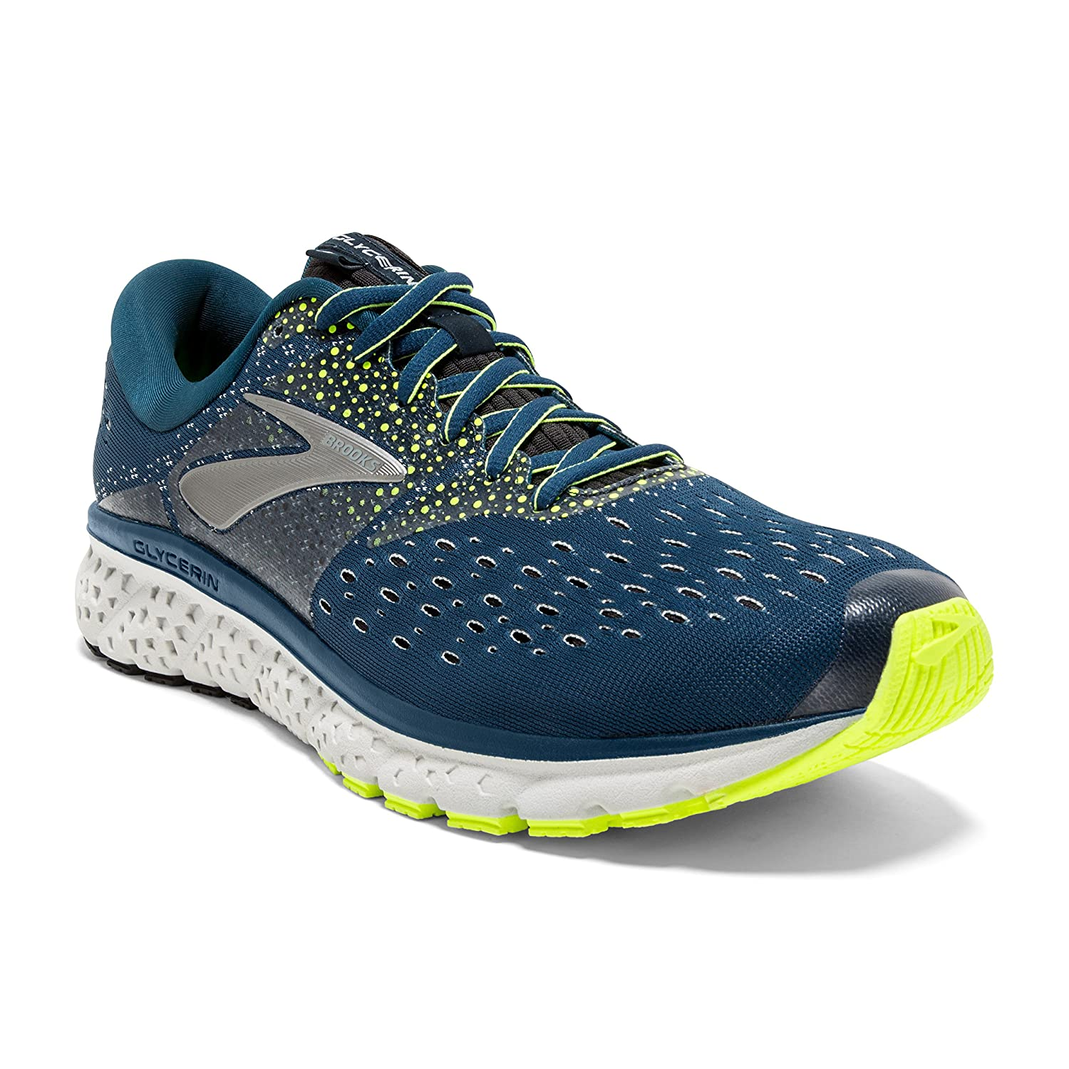 Brooks Mens Glycerin 16 – Blue Nightlife Black – D – 10.0