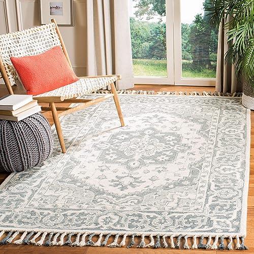 Safavieh Aspen Collection APN122A Handmade Braided Tassel Wool Area Rug